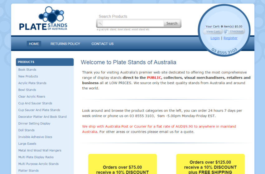 sc 1 st  Spinsoft & New Look for Plate Stands of Australia