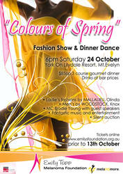 The Mela-no-more foundation (Emily's Foundation) are hosting a charity fund raising Fasion Show, Dinner & Dance event.