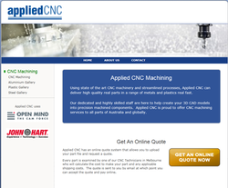 Applied CNC launch a website specialising in custom CNC machining via an online quote system.