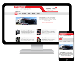 We have launched a new website for Tyreways Bentley, a Kumho tyre platinum dealer and rim repair specialist.