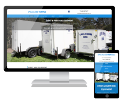 We have launched a new website for Specialised Rentals in Bayswater to promote the coolroom and event hire equipment.