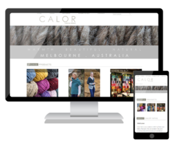 We have launched a new mobile friendly website for Calor Yarns & Design